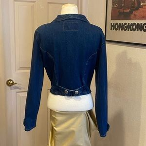 Vintage western denim jacket with conchos